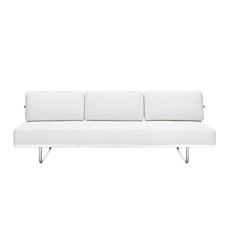 Charles Convertible Leather Sofa White