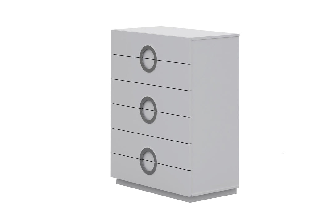 Eddy Chest of 6 Drawers, High Gloss White