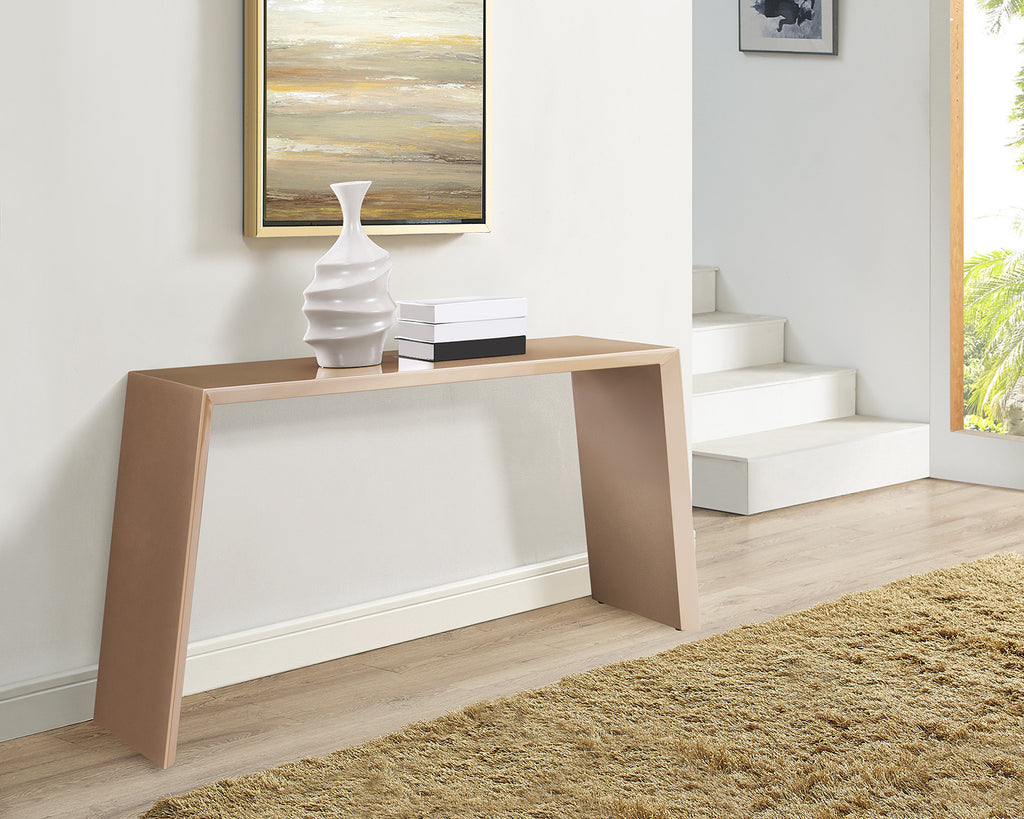 Emily Console, high gloss gold lacquer