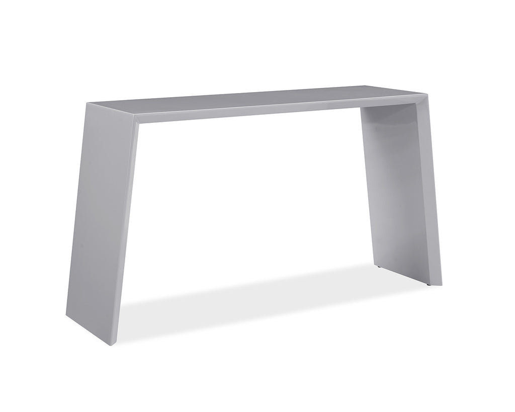 Emily Console, high gloss gray lacquer