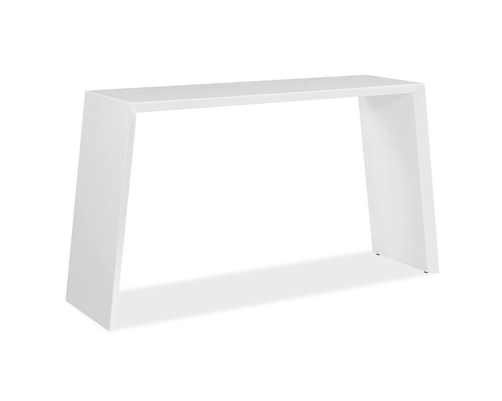 Emily Console, high gloss white lacquer