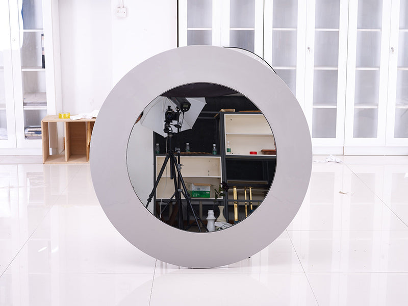 Emily Console  Mirror, high gloss white lacquer