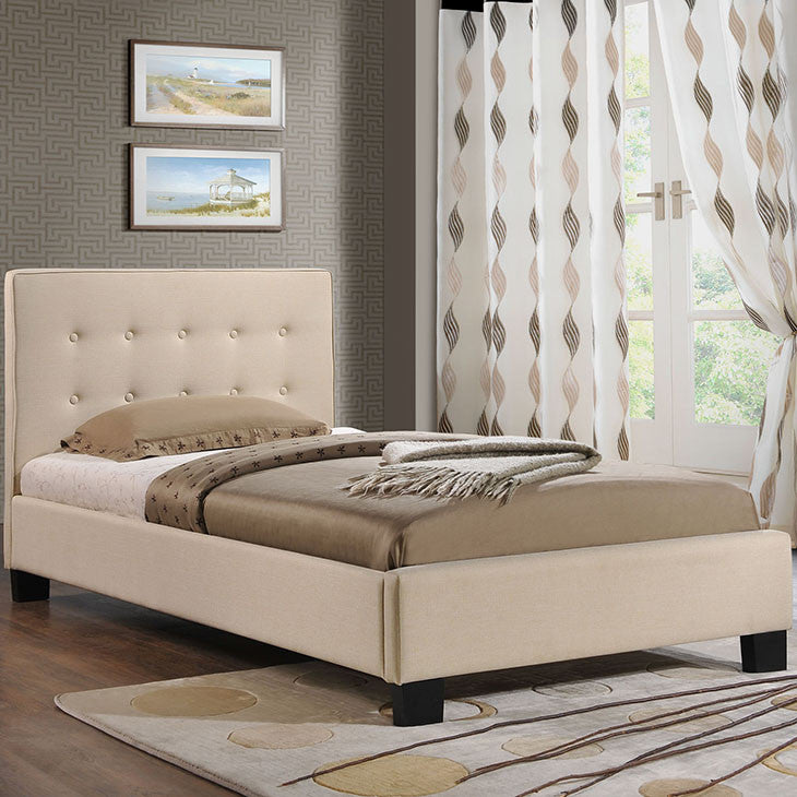 Caitlin Twin Fabric Bed