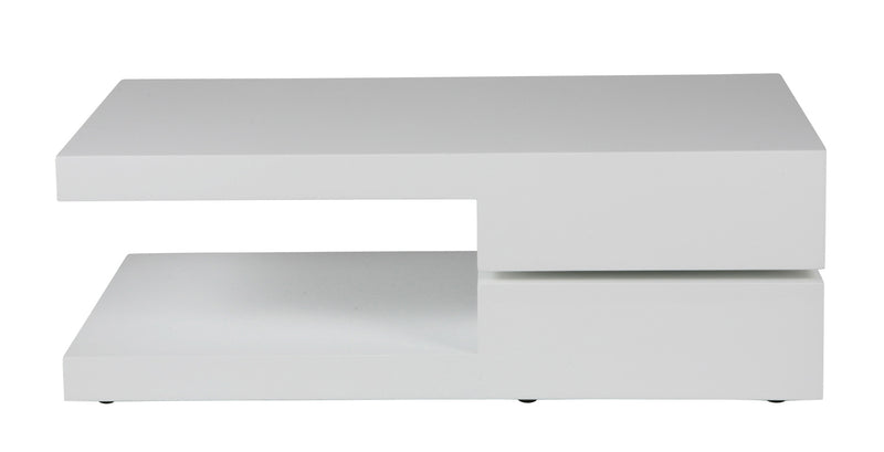 Patrick Motion coffee table, High gloss white
