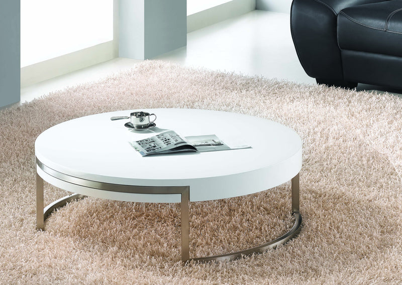 Ross Coffee Table. High gloss white