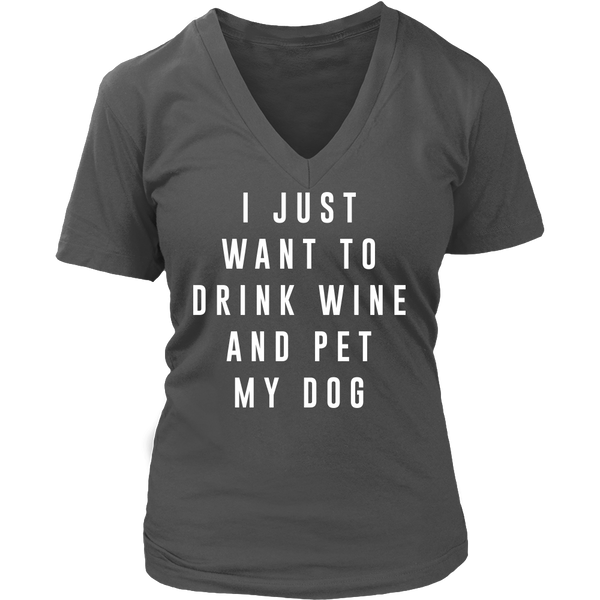 Drink wine pet dog