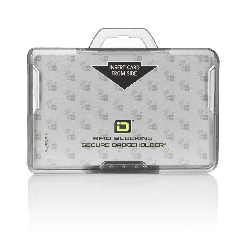 ID Stronghold Badgeholder BloxProx Clear Secure Badge Bolder BloxProx™ Lite LANDSCAPE - Protects 125Khz HID Prox