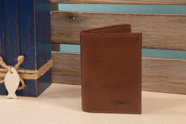 ID Stronghold Safe Harbor Dark Brown Safe Harbor RFID Secure Men's Trifold wallet