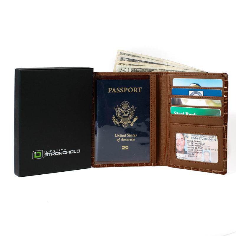 ID Stronghold Passport RFID Blocking Passport Wallet Designer