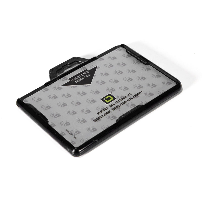 ID Stronghold Badgeholder BloxProx Secure Badge Bolder BloxProx™ Lite LANDSCAPE - Protects 125Khz HID Prox
