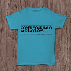 "A Bag of Halos and Horns' ""Cover Your Halo"" T-Shirt"