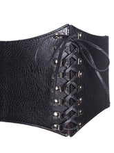 Jordyn Laced Short Torso Corset Belt - Didi Royale