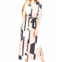 Didi Royale | Online Women's Boutique | Clothing | Perla Geometric Color-Blocked Shirt Dress