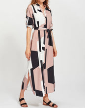 Didi Royale  | Clothing | Perla Geometric Color-Blocked Shirt Dress