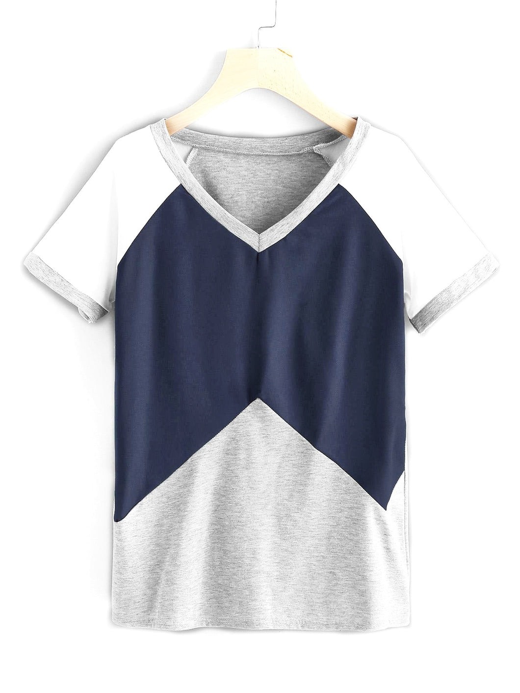 Judith Cut And Sew Contrast Raglan Sleeve Tee - Didi Royale