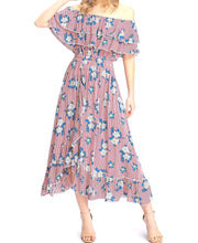 Didi Royale  | Clothing | Liana Print Ruffle Bardot Midi Dress