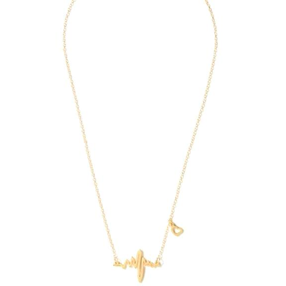 Didi Royale | Online Women's Boutique | Jewelry | Hana Gold Heartbeat Chain Necklace