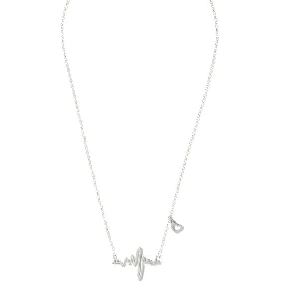 Didi Royale | Online Women's Boutique | Accessories | Hana Silver Heartbeat Chain Necklace
