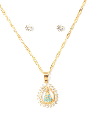 Didi Royale | Accessories | Sarahi Waterdrop Pendant Necklace And Earrings Set