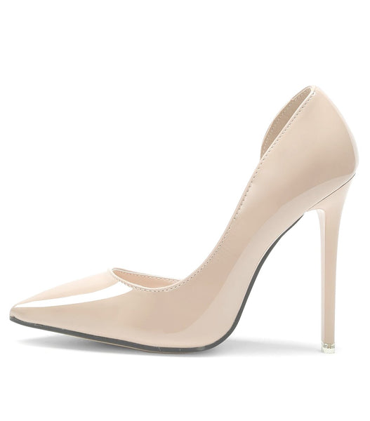 Iriza Beige Pointed Toe Pumps - Didi Royale
