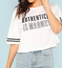 Kimberly Oversized Cropped Striped Sleeve T-Shirt - Didi Royale