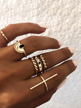 Didi Royale | Online Women's Boutique | Accessories | Camryn Bar And Half Round Ring Set