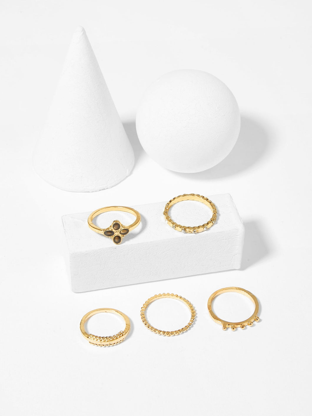 Didi Royale  | Accessories | Ayana Textured Gemstone Ring Set