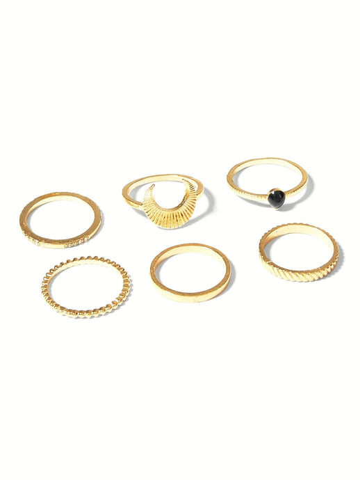 Didi Royale  | Accessories | Kamari Moon Ring Set