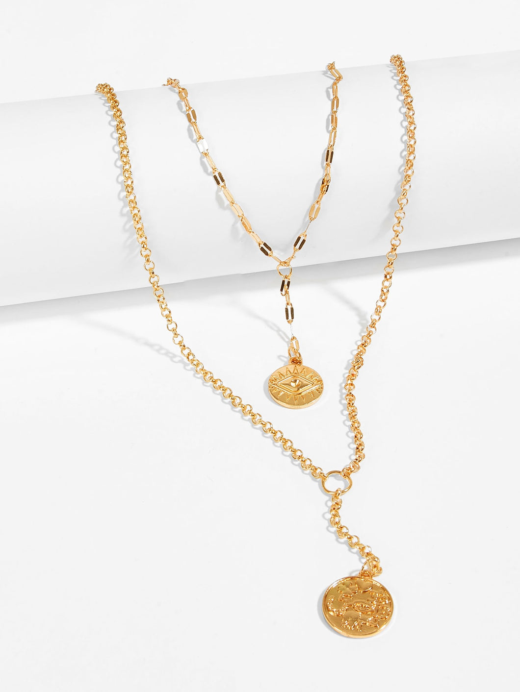 Didi Royale  | Accessories | Kaylen Round Pendant Layered Necklace