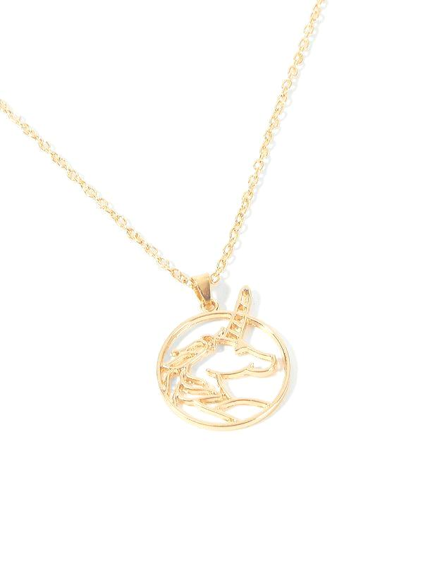 Didi Royale | Online Women's Boutique | Accessories | Kim Gold Pendant Unicorn Necklace