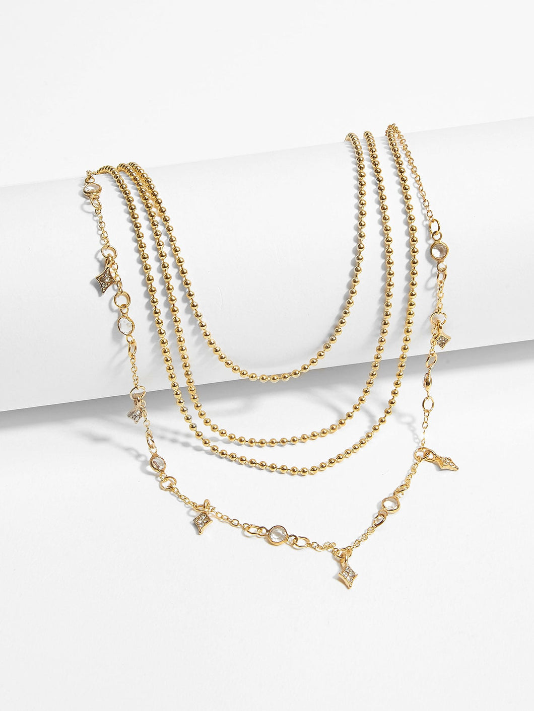 Didi Royale  | Accessories | Cora Rhinestone Charm Layered Beaded Necklace