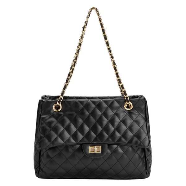 Amber Quilted Bag With Chain Strap - Didi Royale