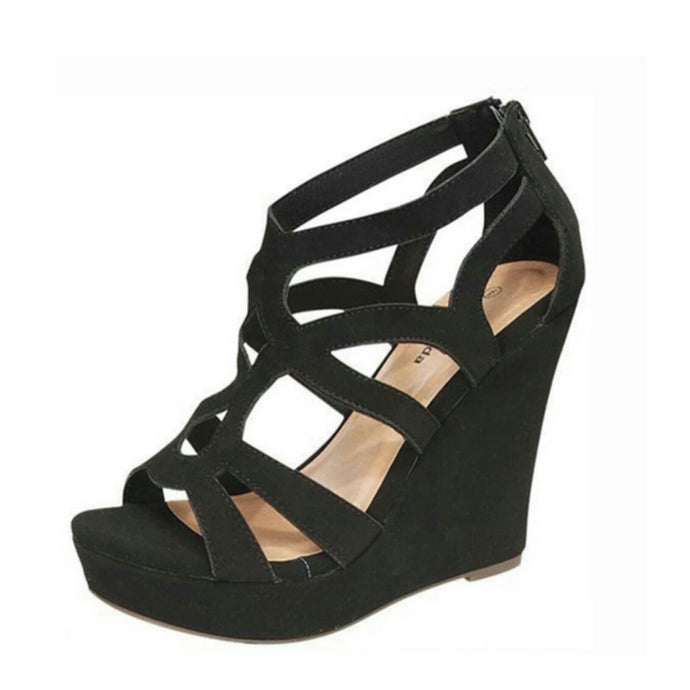Didi Royale | Online Women's Boutique | Shoes | Ella High Heel Wedge Sandals (3 Colors)