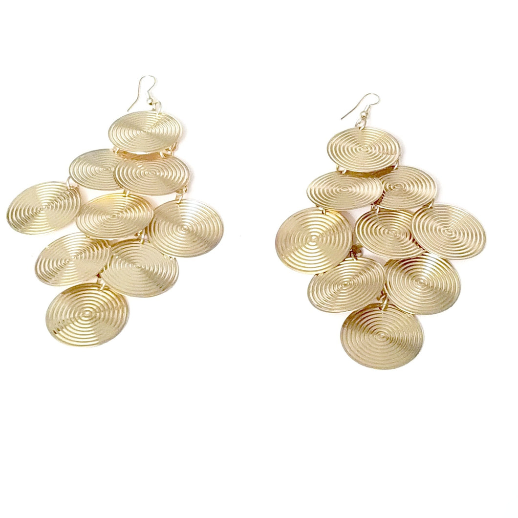 Didi Royale | Online Women's Boutique | Accessories | Kaylynn Gold Circular Dangling Earrings