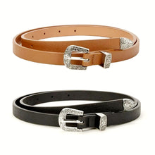 Rhonda Thin Antiqued Buckle Belt Set - Didi Royale