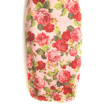 Lizzie Pink Floral Bodycon Knee Length Dress - Didi Royale