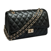 Didi Royale | Online Women's Boutique | Accessories | Chantay Black Quilted Bag With Chain Strap