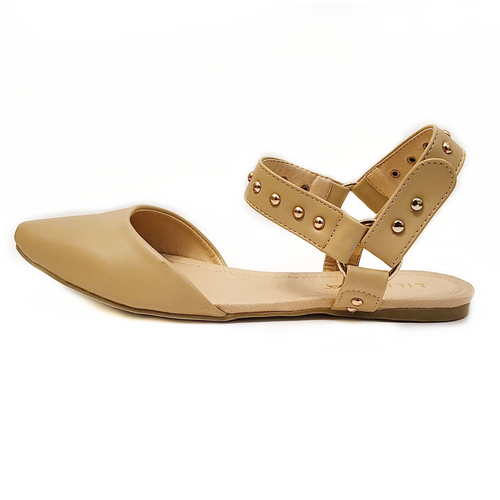 Didi Royale | Online Women's Boutique | Shoes | Mila Beige Flat Slingback Slides