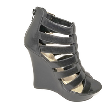 Didi Royale | Online Women's Boutique | Shoes | Ada Black Strappy High Heel Wedge Sandals
