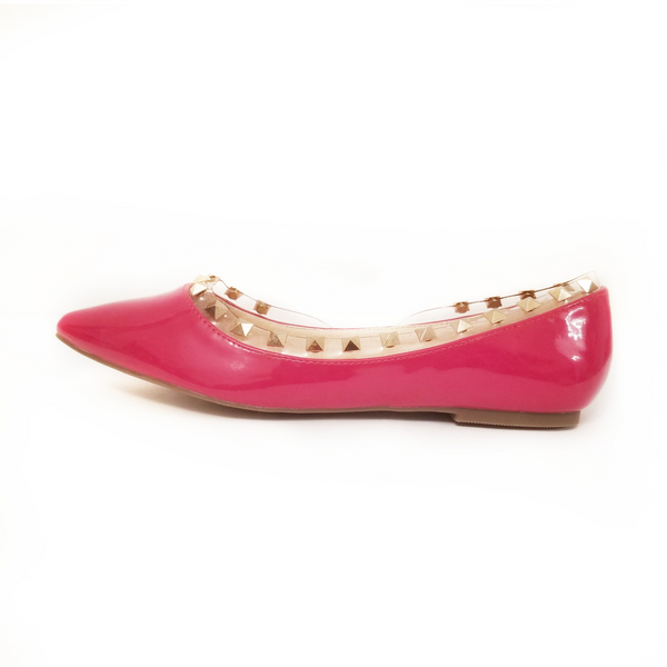 Didi Royale | Online Women's Boutique | Shoes | Tobby Red Studded Flats
