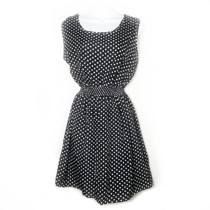 Kelli Chiffon Polka Dot Mini Dress - Didi Royale