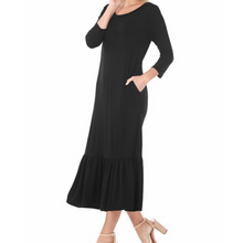 Alexis Three Quarter Sleeve Midi Dress (Multiple Colors Available - Didi Royale