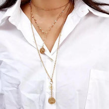Didi Royale | Online Women's Boutique | Accessories | Kaylen Round Pendant Layered Necklace