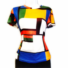 April Geometric Print Color Block Shirt - Didi Royale