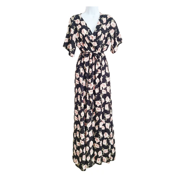 Mary Floral Print Maxi Dress