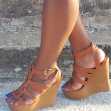 Didi Royale  | Shoes | Carina Tan Wedge Sandals