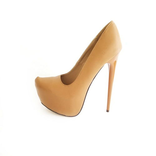 Didi Royale | Online Women's Boutique | Shoes | Vicky Tan High Heel Platform Pumps