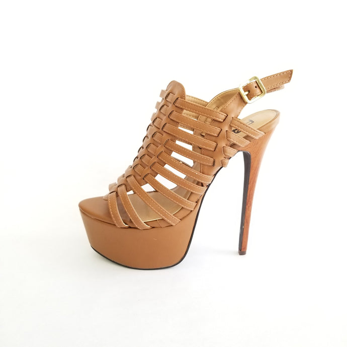 Didi Royale | Online Women's Boutique | Shoes | Padma Tan High Heel Sandal