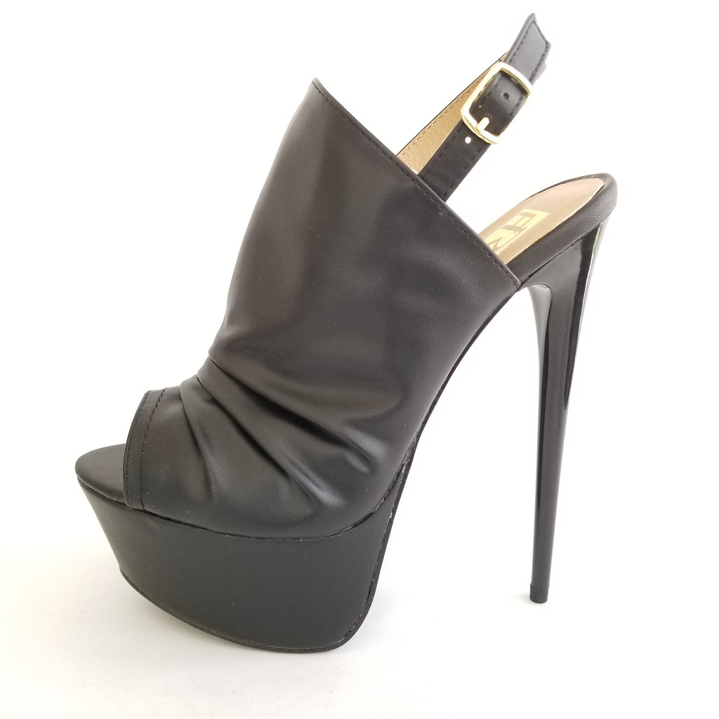 Didi Royale | Shoes | Vicky Black Peep Toe Sling Back High Heel Sandals