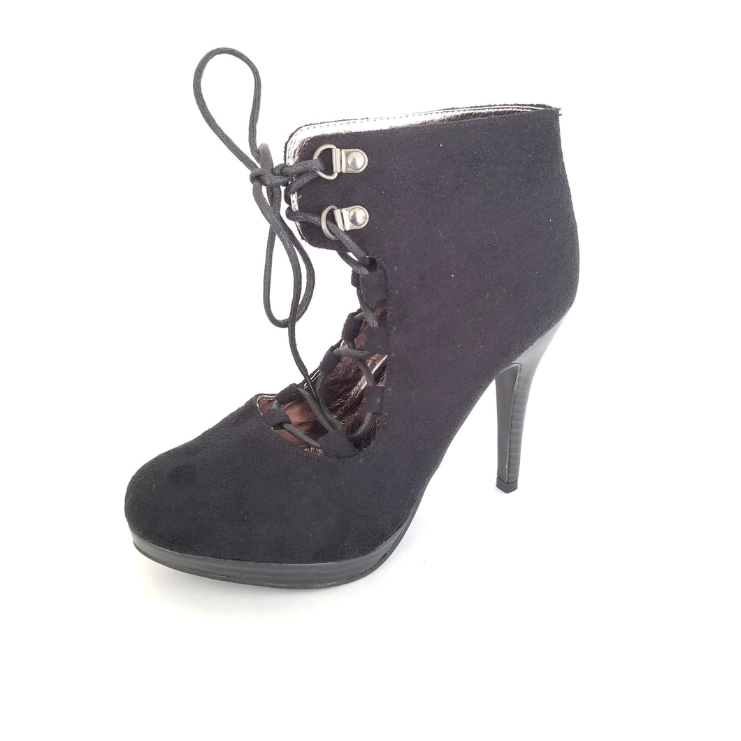 Didi Royale | Online Women's Boutique | Shoes | Irene Black String Up Booties